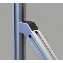 45° connector for 40x40 profiles