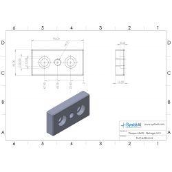 Plaque 45x90 - Filetage M12