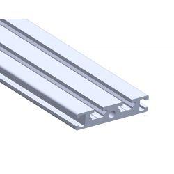 Profilé aluminium plat 50x10 - fente de 6 mm