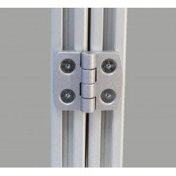 Charnière en aluminium pour profilé 45x45 fente 10 mm