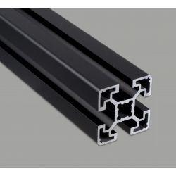Aluminium profile 40x40 10mm slot – light - black anodized