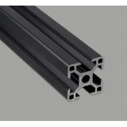 Aluminium profile 30x30 8mm slot - black anodized