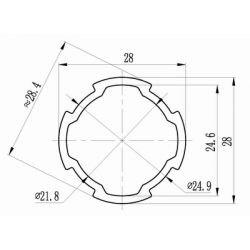 Profilé standard D28