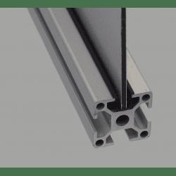 Profilé d'encadrement et cache - fente de 8 mm