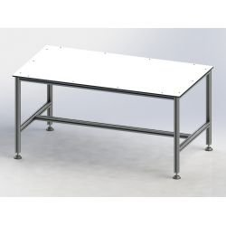 Workstation top - White HPL compact laminate 10 mm thick