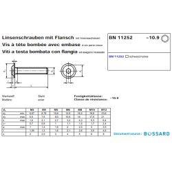 Vis de fixation à embase HC - Filetage M8x16