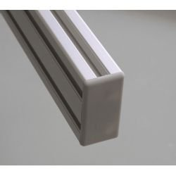 Protective cap for 30x90 aluminium profiles with 8mm slot – Grey